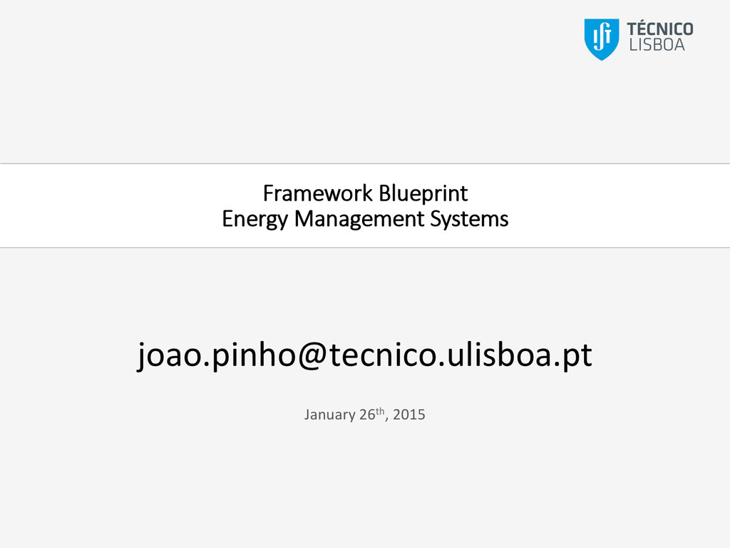 Framework Blueprint  Energy Management Syst...
