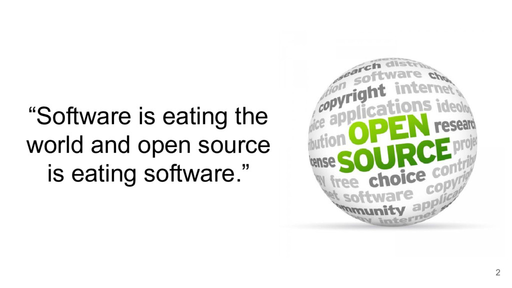 """Software is eating the world and open source i..."