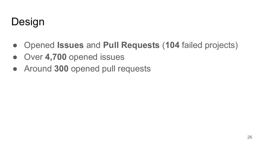 Design ● Opened Issues and Pull Requests (104 f...