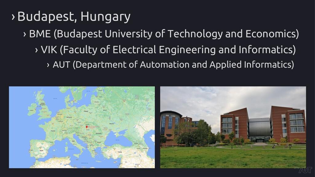 › Budapest, Hungary › BME (Budapest University ...