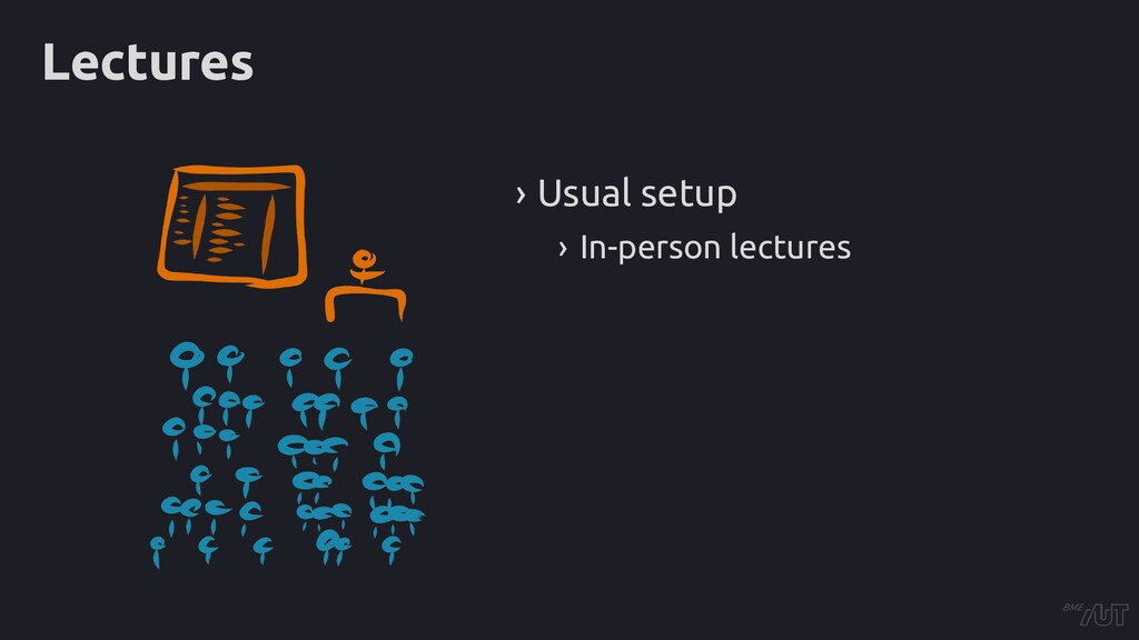 Lectures › Usual setup › In-person lectures