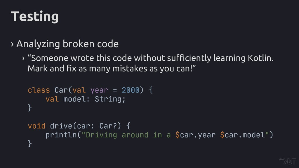 "Testing › Analyzing broken code › ""Someone wrot..."