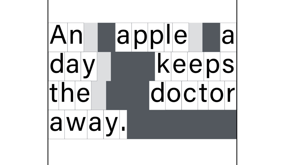 n A apple a d y a eeps t e h octor away. k d