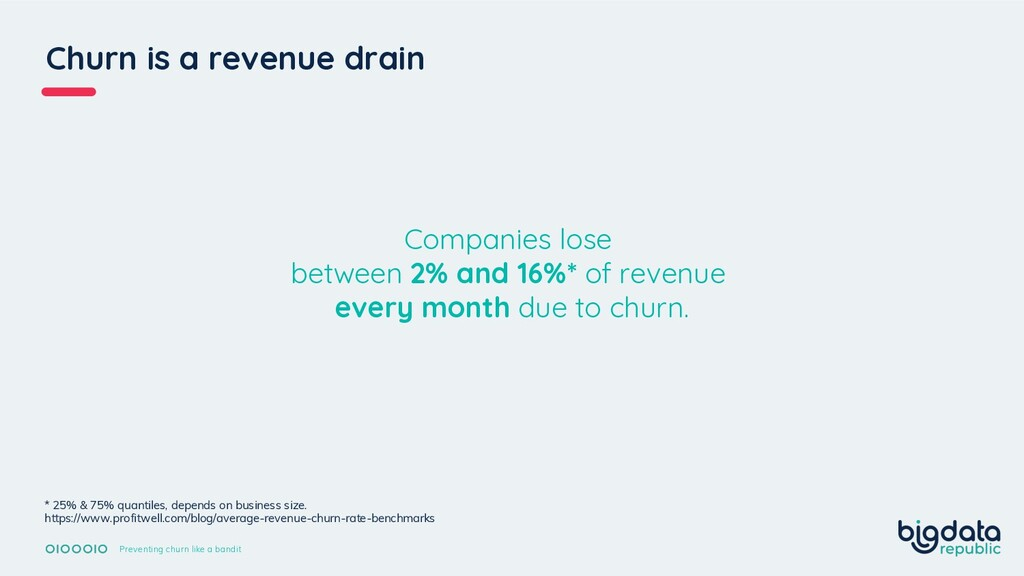 Churn is a revenue drain Preventing churn like ...