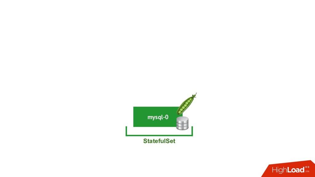 mysql-0 StatefulSet