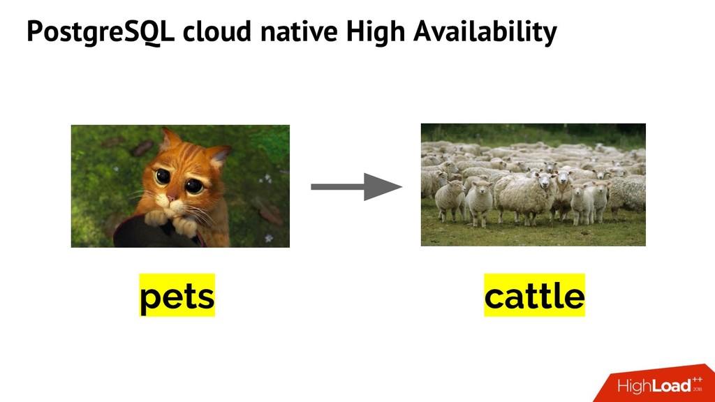 cattle pets PostgreSQL cloud native High Availa...