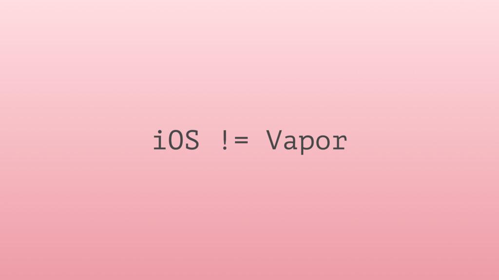 iOS != Vapor