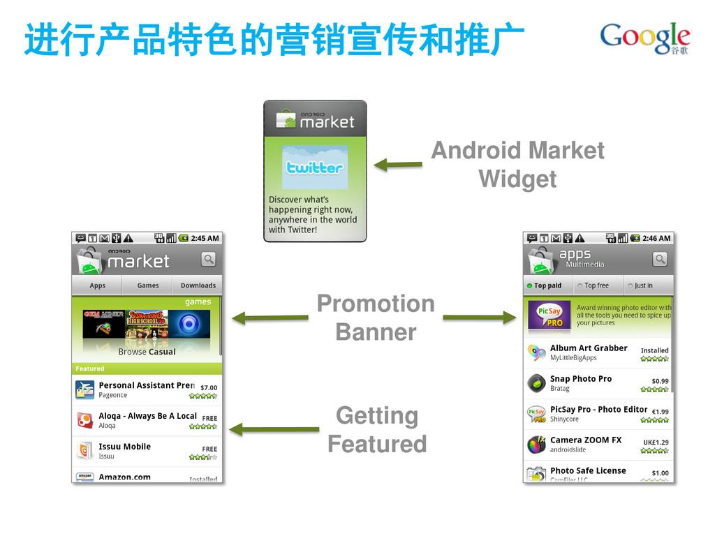 进行产品特色的营销宣传和推广 Getting Featured Promotion Banne...