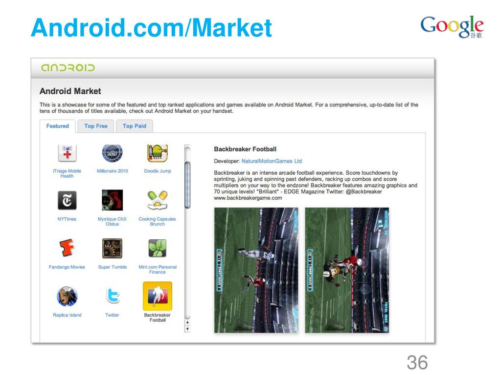 Android.com/Market 36