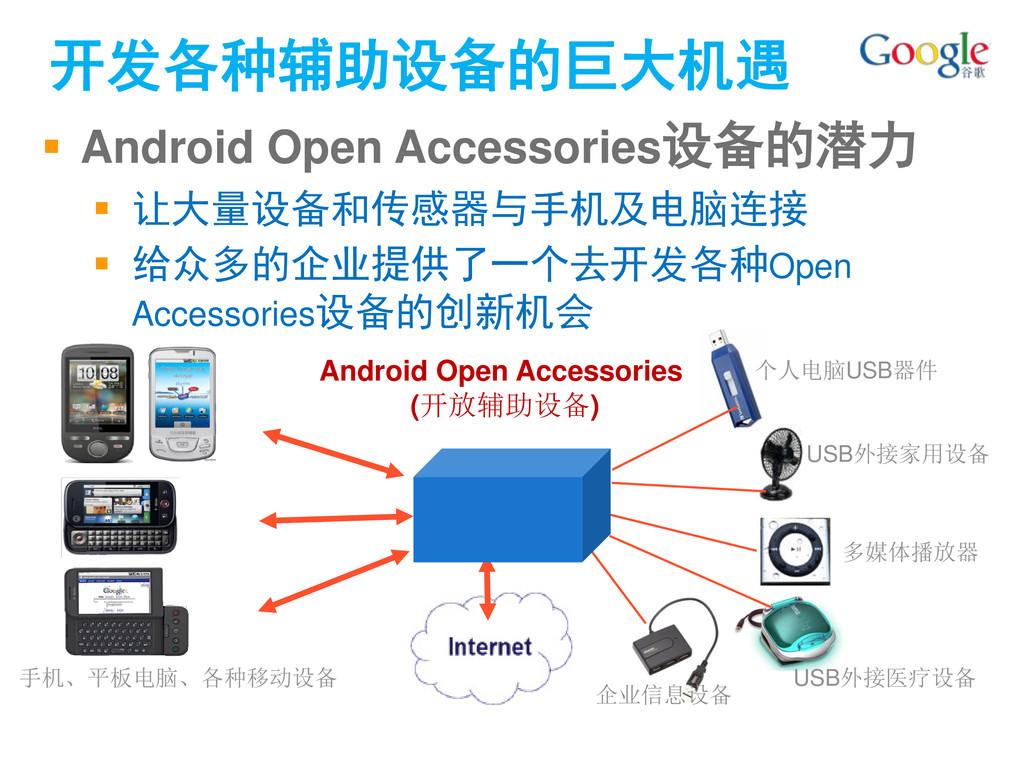  Android Open Accessories设备的潜力  让大量设备和传感器与手机及...
