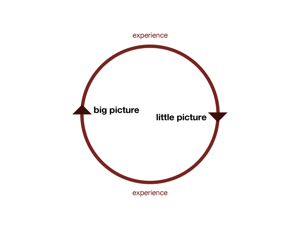 big picture little picture experience experience