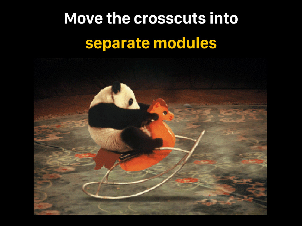 Move the crosscuts into separate modules