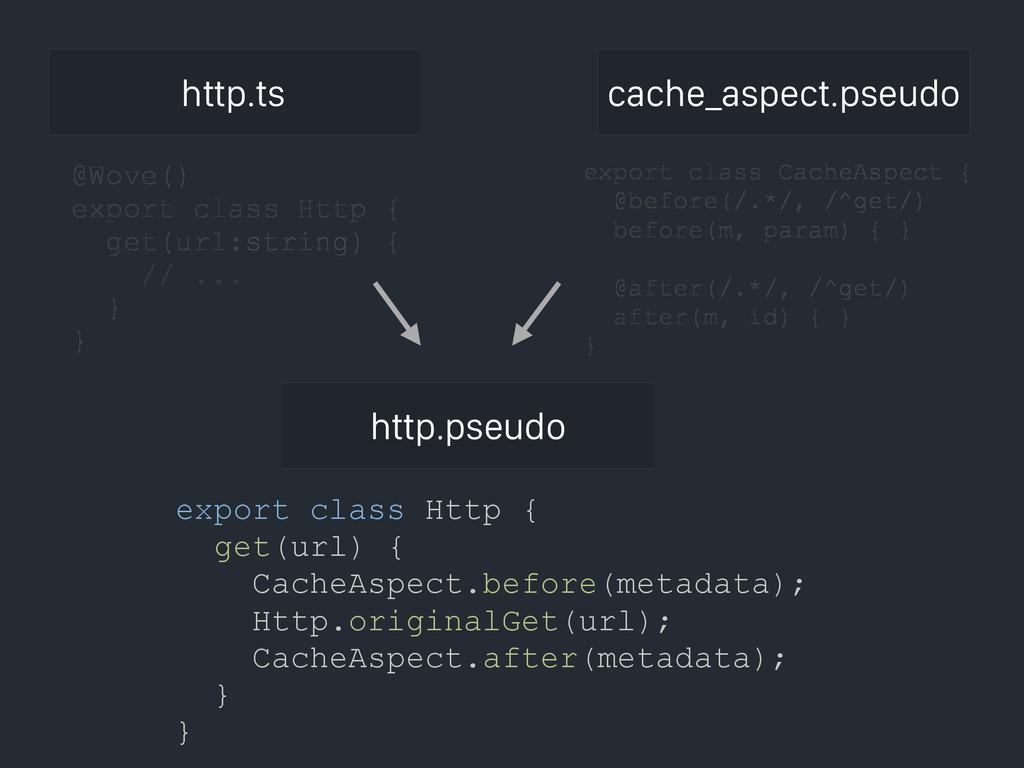 http.ts export class Http { get(url) { CacheAsp...
