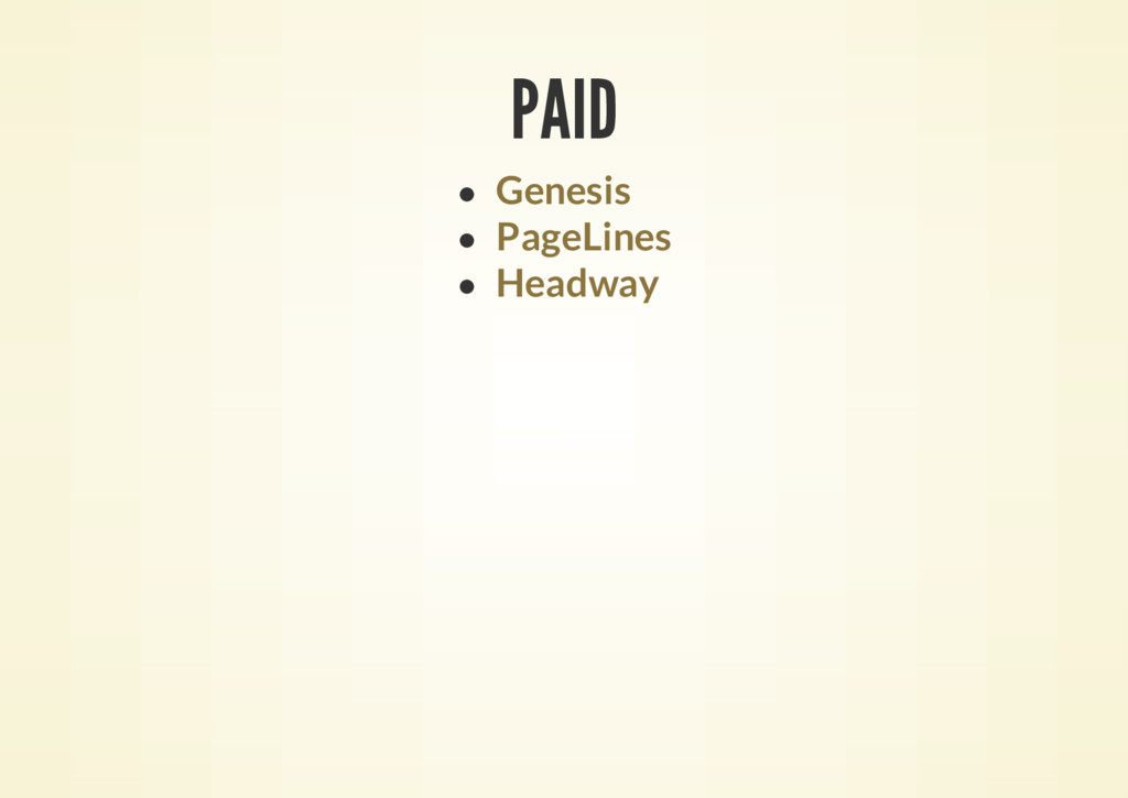PAID Genesis PageLines Headway