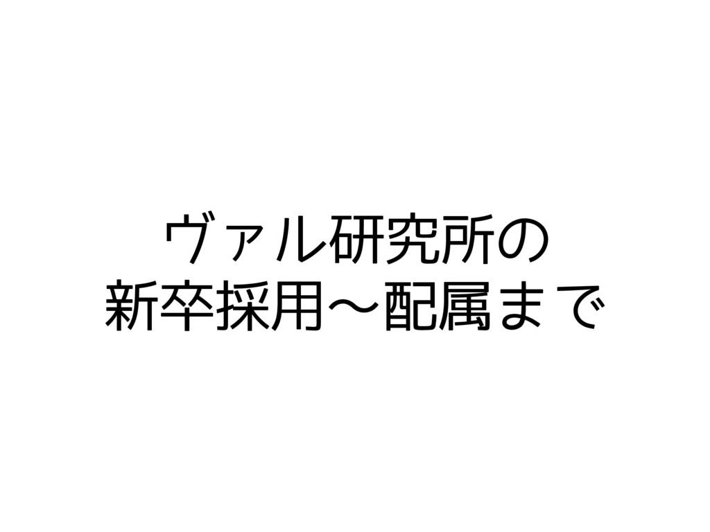 ヴァル研究所の 新卒採用〜配属まで