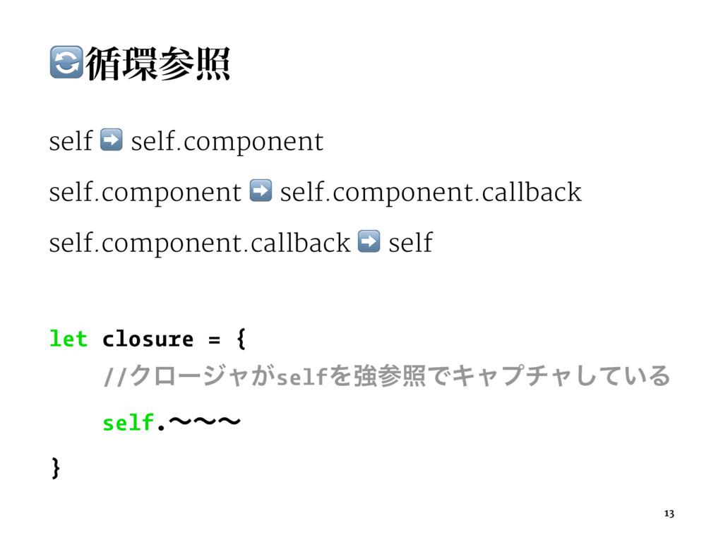 !॥র self ➡ self.component self.component ➡ se...