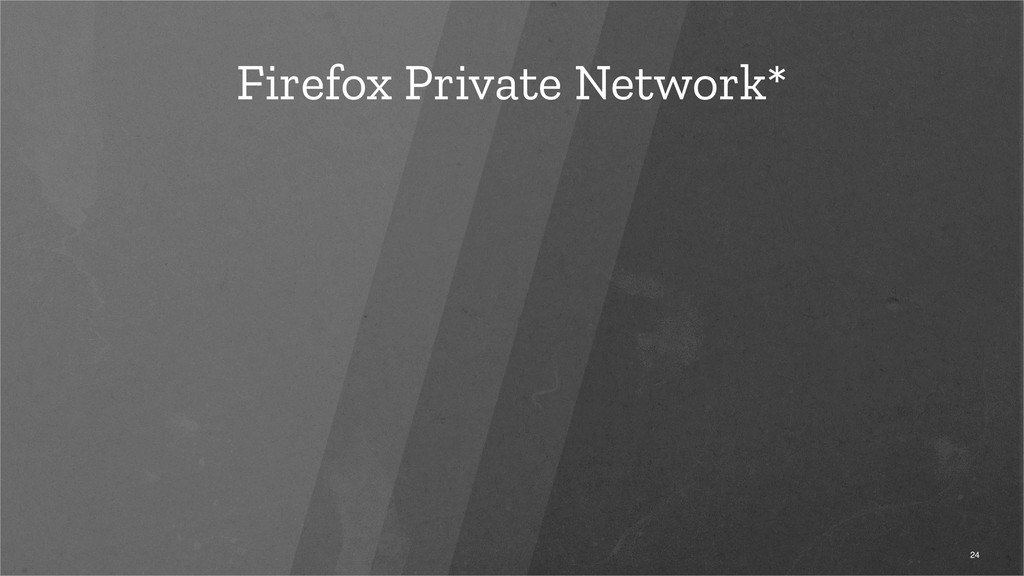 Firefox Private Network* 24