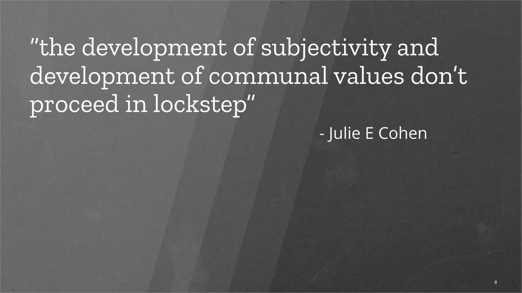 """the development of subjectivity and developmen..."