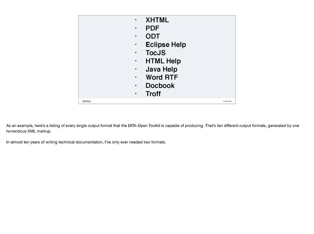 @gjtorikian • XHTML • PDF • ODT • Eclipse Help ...