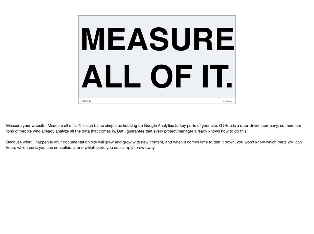 @gjtorikian MEASURE ALL OF IT. Measure your web...