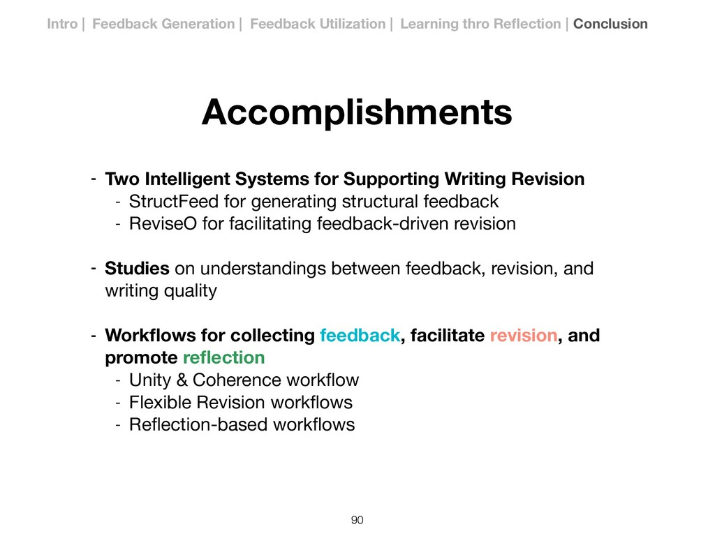 Accomplishments - Two Intelligent Systems for S...