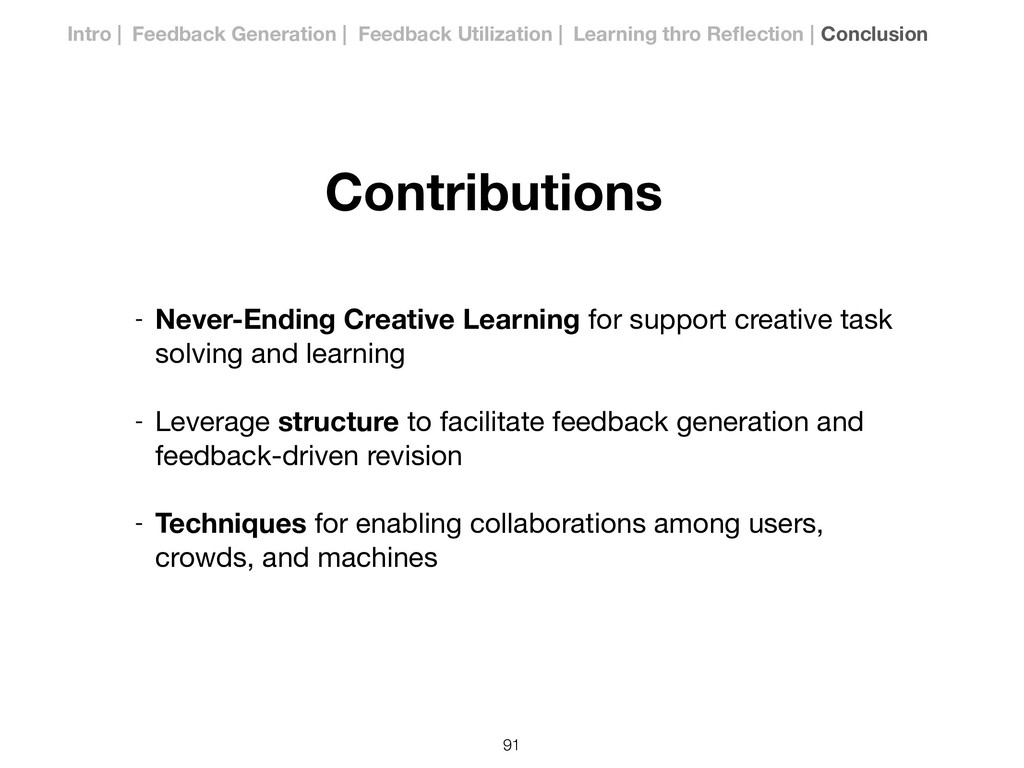 !91 Contributions Intro | Feedback Generation |...