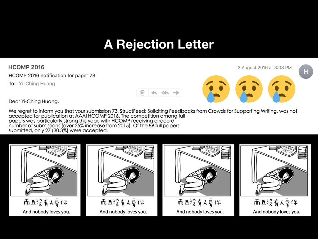 A Rejection Letter !3