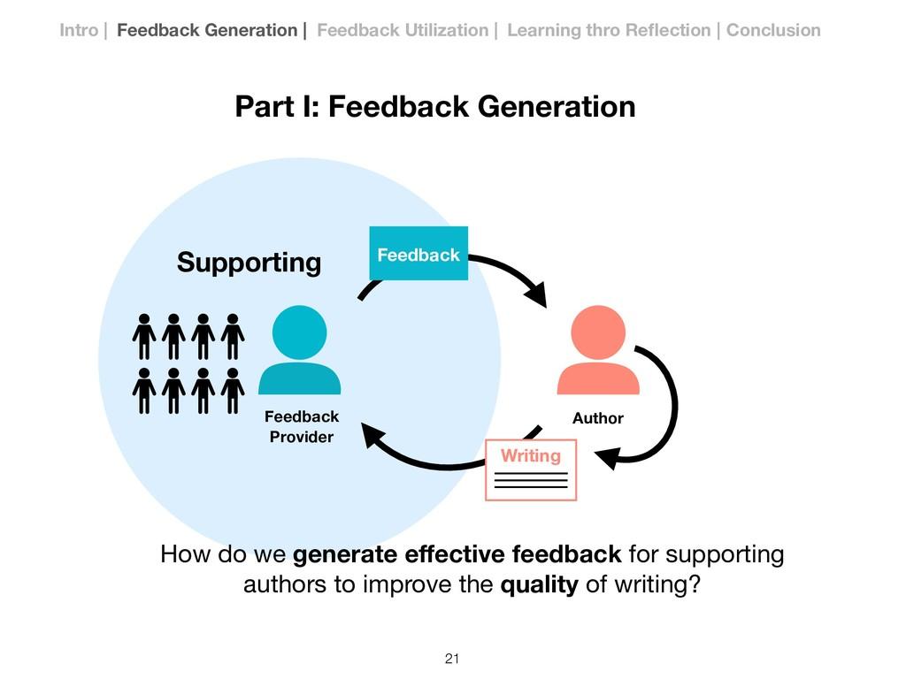 Part I: Feedback Generation Writing Feedback Ho...