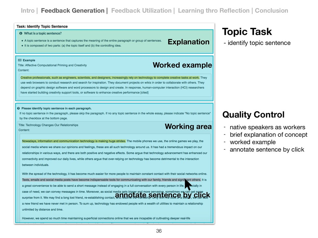 Topic Task - identify topic sentence Quality Co...