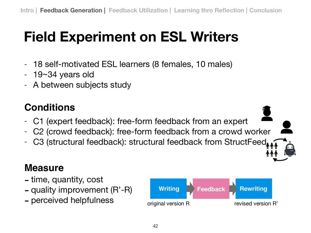 Field Experiment on ESL Writers - 18 self-motiv...