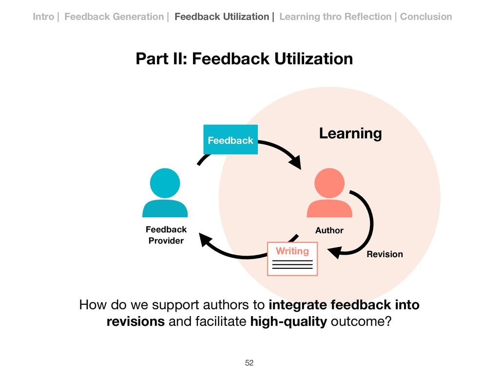 Learning Part II: Feedback Utilization Writing ...