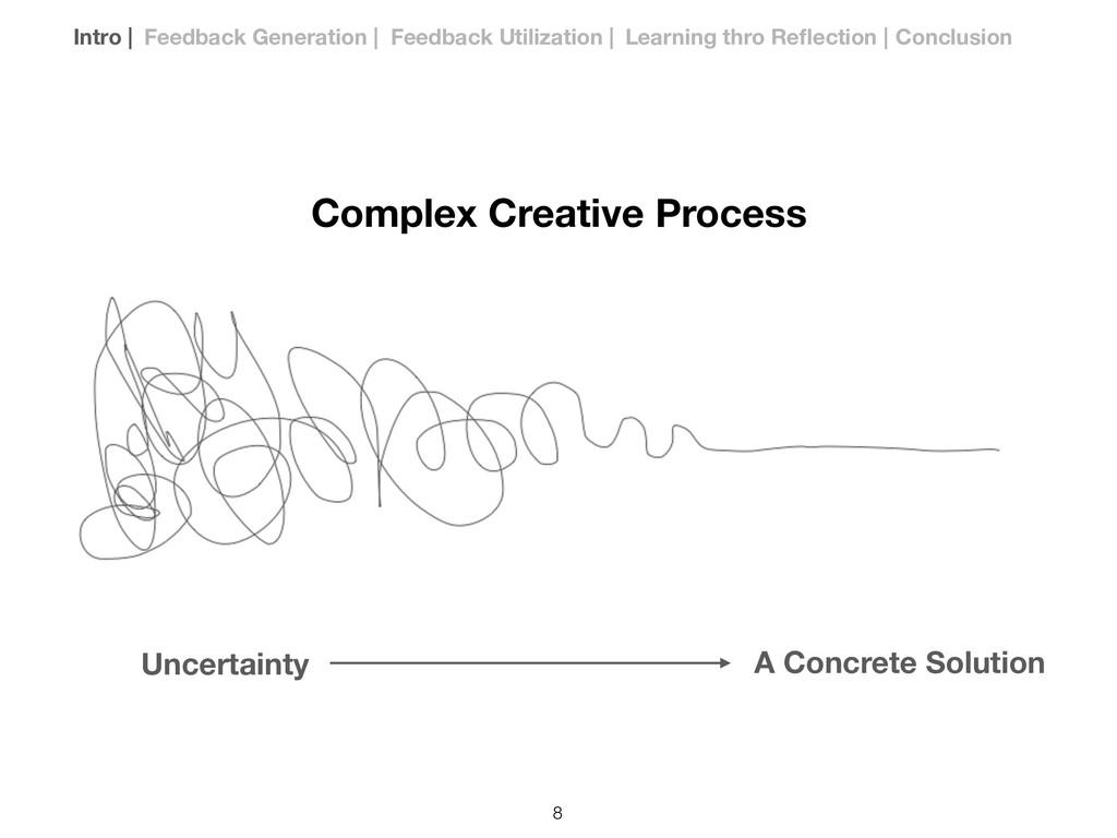 Complex Creative Process Uncertainty A Concrete...