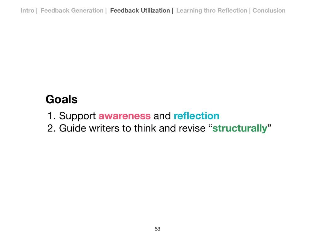 Goals 1. Support awareness and reflection  2. Gu...
