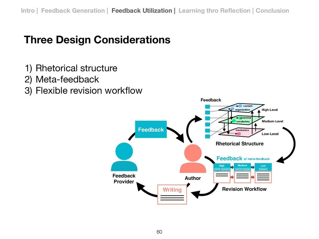 1) Rhetorical structure  2) Meta-feedback  3) F...