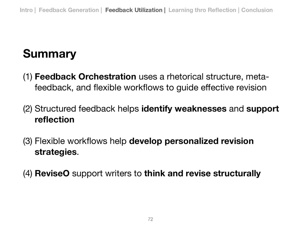 Summary (1) Feedback Orchestration uses a rheto...