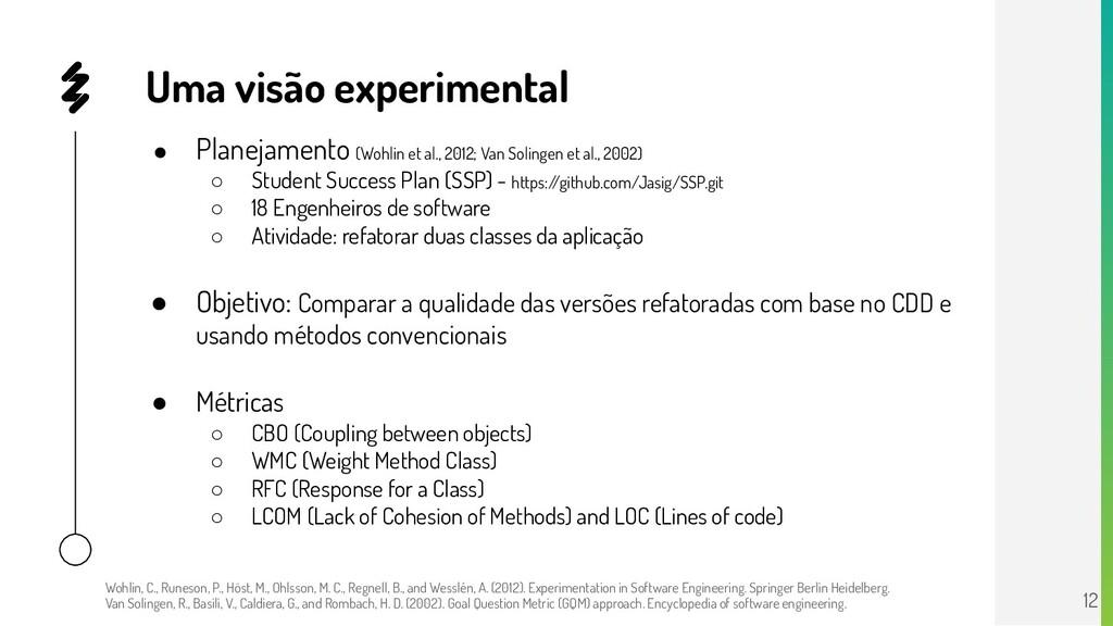● Planejamento (Wohlin et al., 2012; Van Soling...