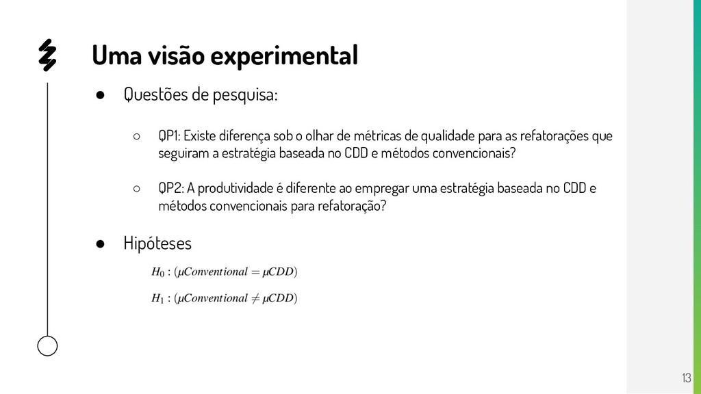 ● Questões de pesquisa: ○ QP1: Existe diferença...