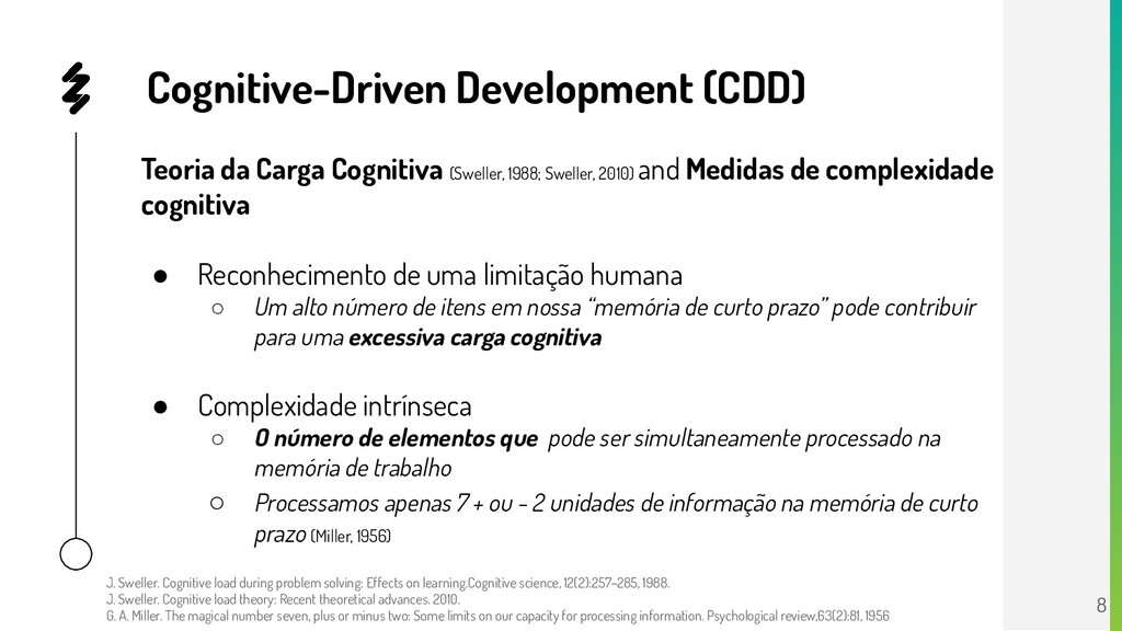 Cognitive-Driven Development (CDD) Teoria da Ca...