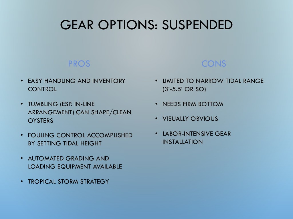 GEAR OPTIONS: SUSPENDED PROS • EASY HANDLING AN...