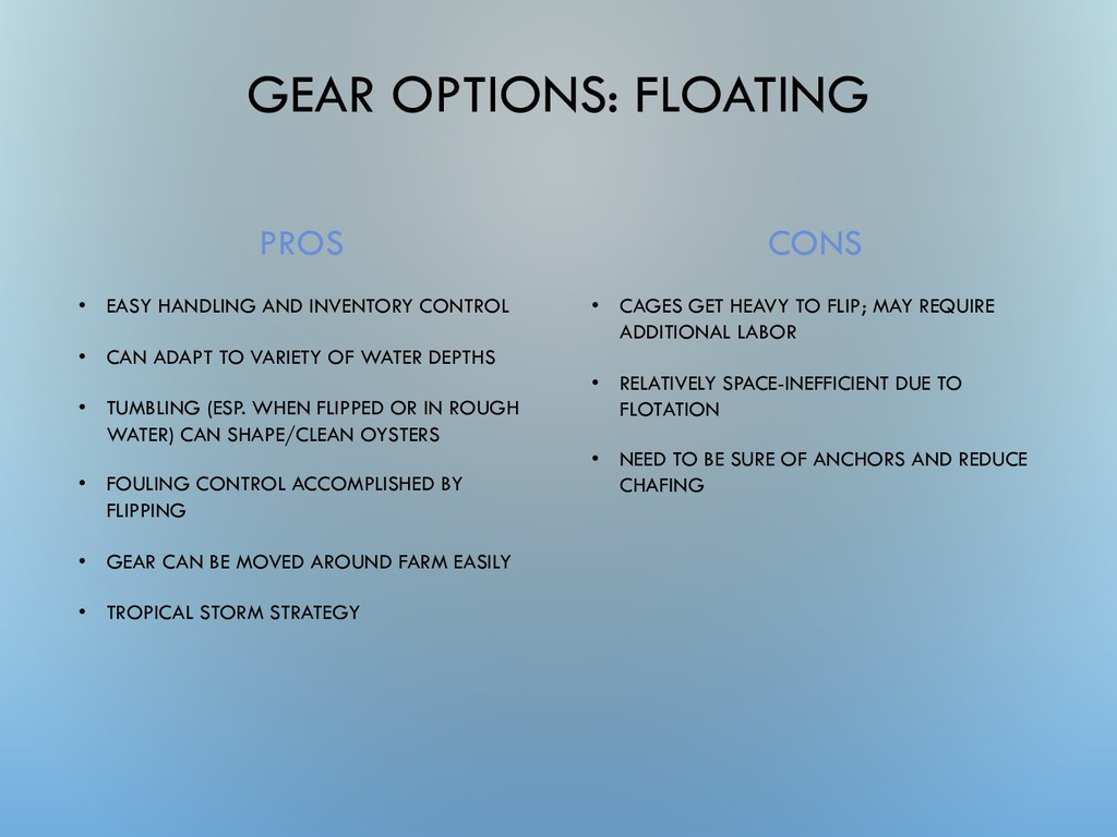 GEAR OPTIONS: FLOATING PROS • EASY HANDLING AND...