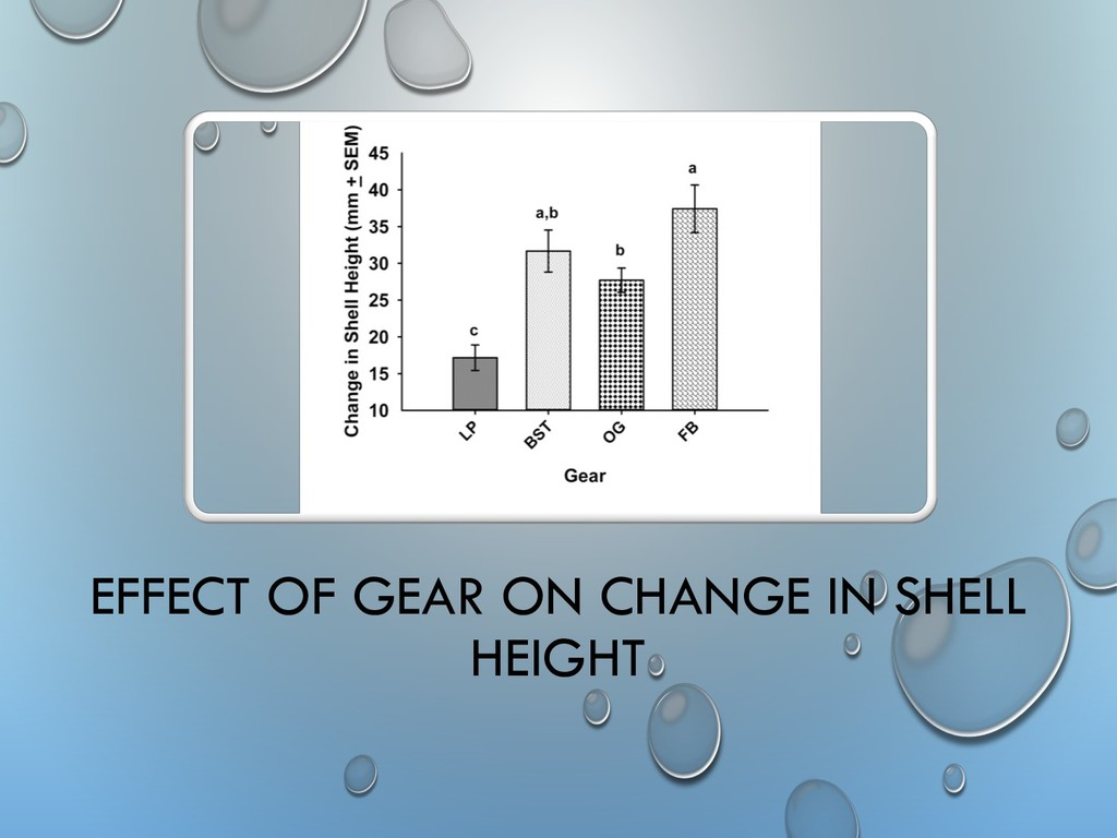 EFFECT OF GEAR ON CHANGE IN SHELL HEIGHT