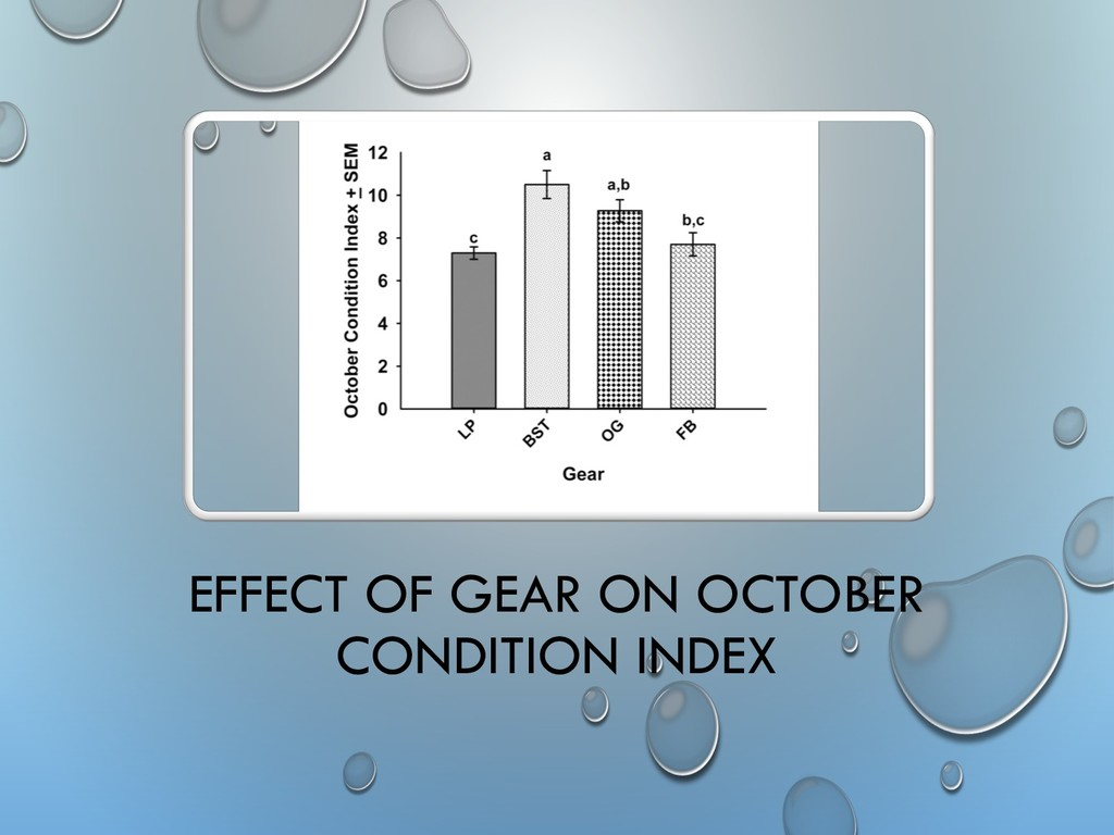 EFFECT OF GEAR ON OCTOBER CONDITION INDEX