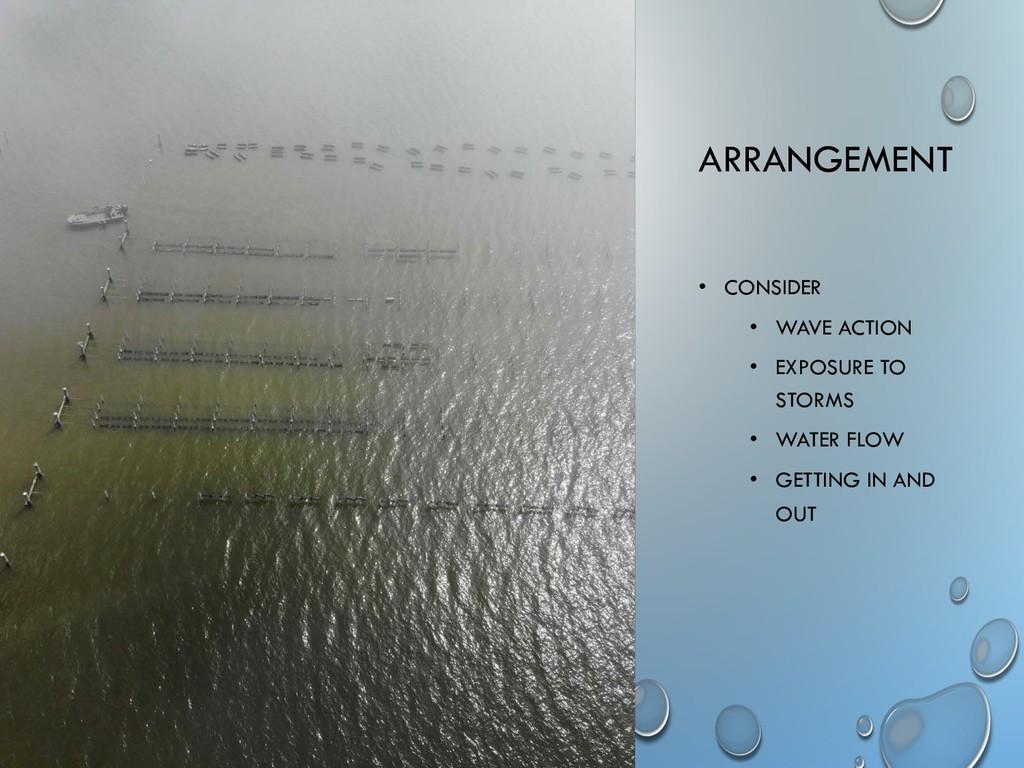 ARRANGEMENT • CONSIDER • WAVE ACTION • EXPOSURE...