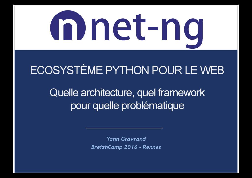 OFUOH OFUOH ECOSYSTÈME PYTHON POUR LE WEB Yan...