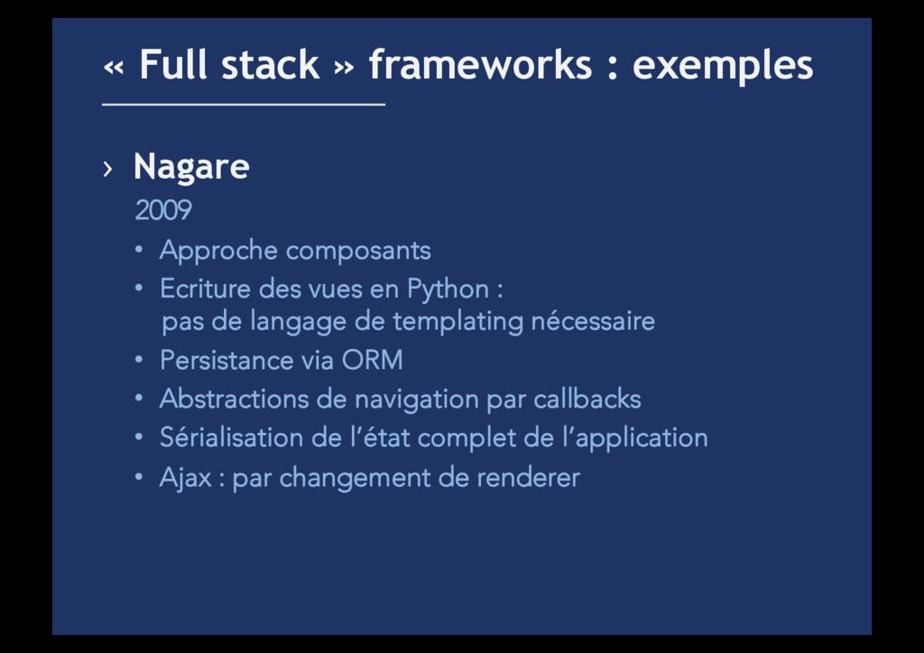 › Nagare 2009 • Approche composants • Ecritu...