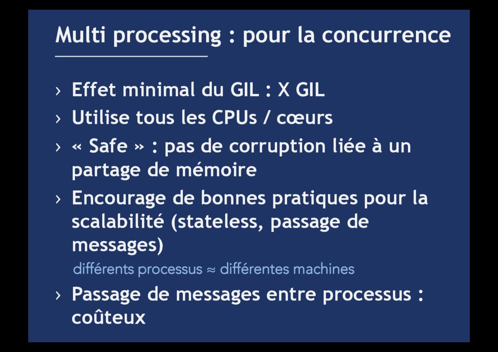 › Effet minimal du GIL : X GIL › Utilise tous...