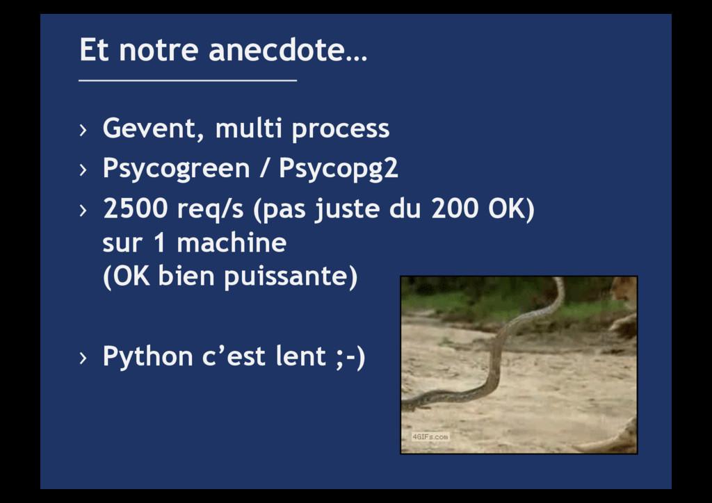 › Gevent, multi process › Psycogreen / Psycop...