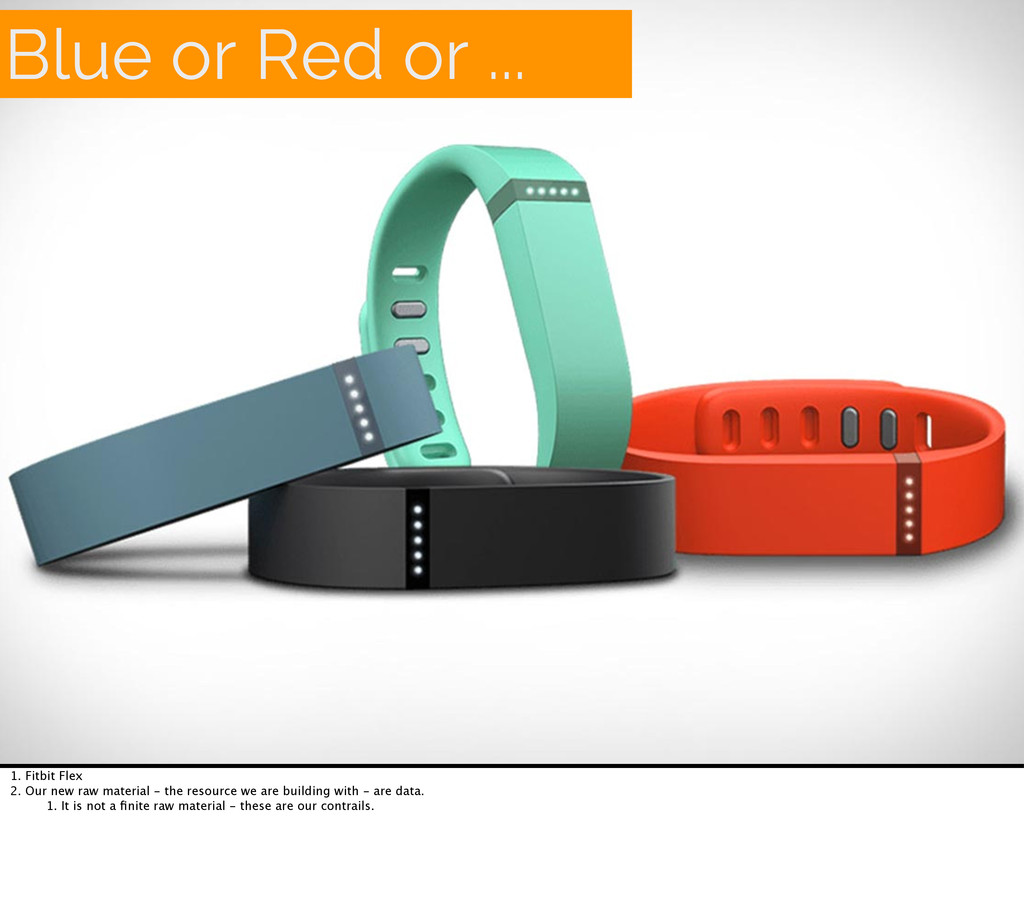 Blue or Red or ... 1. Fitbit Flex 2. Our new ra...