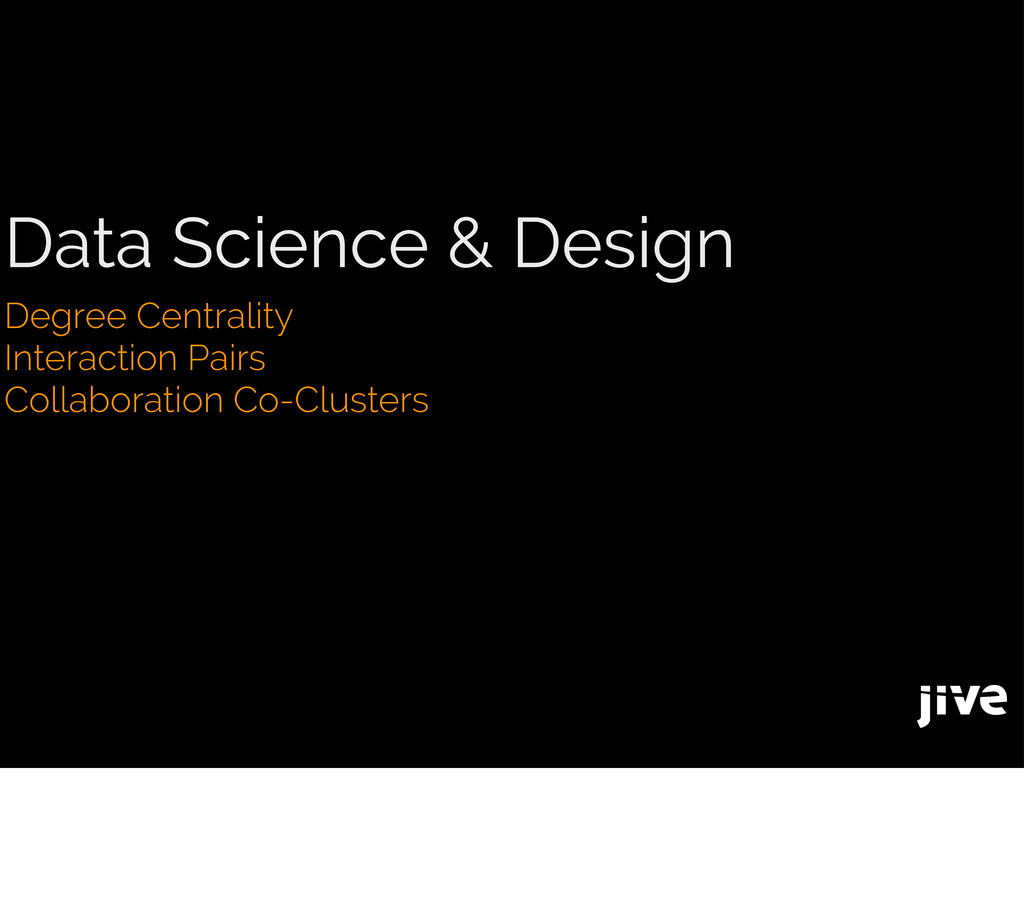 Data Science & Design Degree Centrality Interac...
