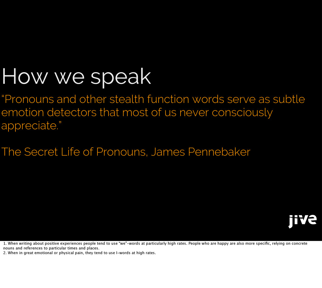 """How we speak """"Pronouns and other stealth functi..."""